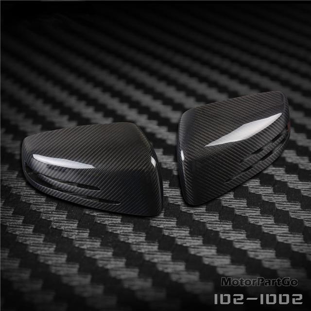 Real Crabon Fiber Mirror Cover Exchange original 1 pair for Mercedes Benz W204 2007-2014 2