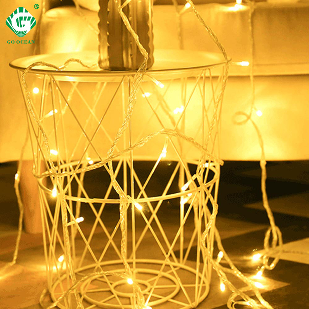 LED String Lights Battery Operated 1.5M 3M 6M 10M Garland Christmas Tree Wedding Party Decoration Holiday Fairy Light