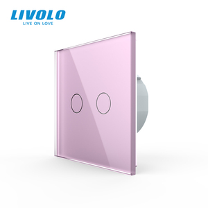 Image 2 - Livolo Wall Light Touch Switch With Crystal Glass Panel,colorful switch,led indicator light,universal wall switches