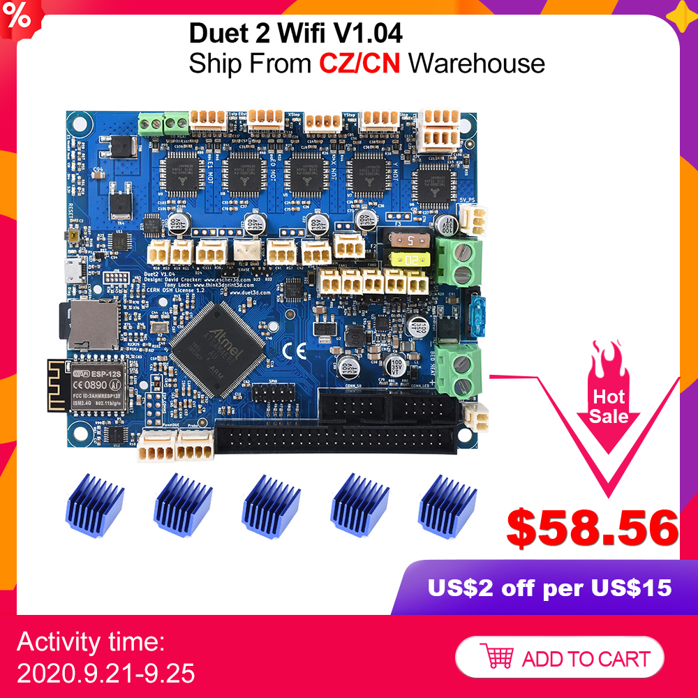 Cloned Duet 2 Wifi V1 04 Upgrade 32bit Control Board Duet2 Wifi 32 bit Motherboard For CNC Machine ender 3 pro 3D Printer Parts