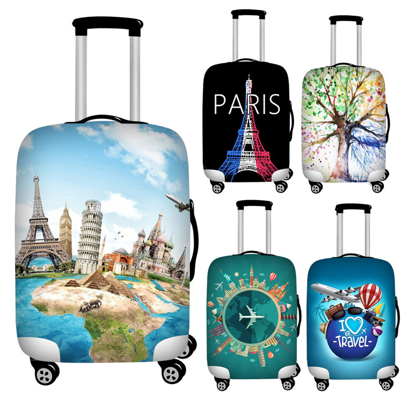 FORUDESIGNS 18''-32'' Trolley Luggage Protective Dust Covers Stretch Travel Suitcase Covers Spandex Waterproof Baggage Cover