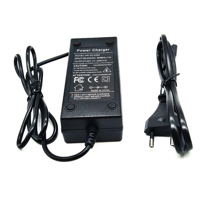 Cargador de batería de 36V, salida de 42V, 2A, 100-240 VAC, cargador de iones de litio para bicicleta eléctrica 10S 36V