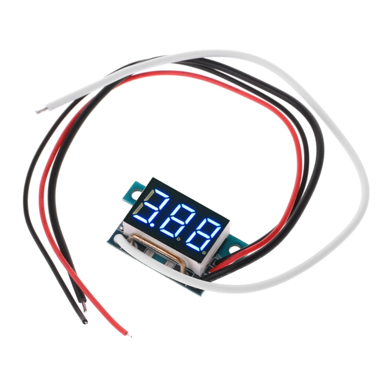 DC0-10A Digital LED Ammeter Current Panel Meter <font><b>0.36in</b></font> Module Reverse protection image