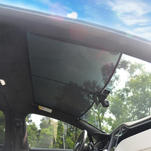 Car Mesh Sunshade Foldable Wings Sunroof Shade Heat Isolate Cloth UV Resistant For Tesla Model X Modified Accessories