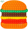Big Hamburger Pop Jumbo Push Bubble Fidget Toys for Kids&Adults Huge Rainbow Giant Squishy Poppers New Figet Toy for Autism Adhd
