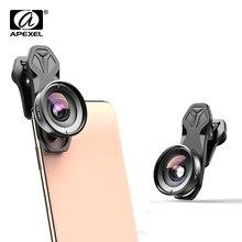 Apexel hd câmera lente do telefone kit 110 graus 4 k lente grande angular cpl starfilter para iphonex samsung s9 todos os smartphones drop shippingLentes para celular