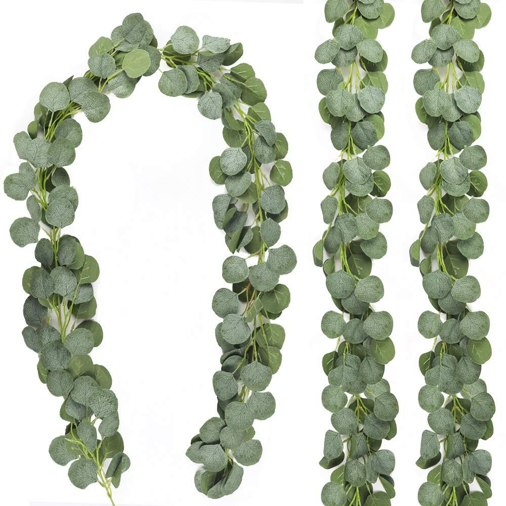 Künstliche Grün Eukalyptus Girlande Blätter Reben Gefälschte Reben Rattan Künstliche Pflanzen für Hochzeit Partei Hintergrund Arch Hause Wand