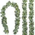 Искусственные зеленые эвкалипта гирлянда «листья» искусственная Виноградная лоза лозы ротанга искусственные растения для Свадебная вече...