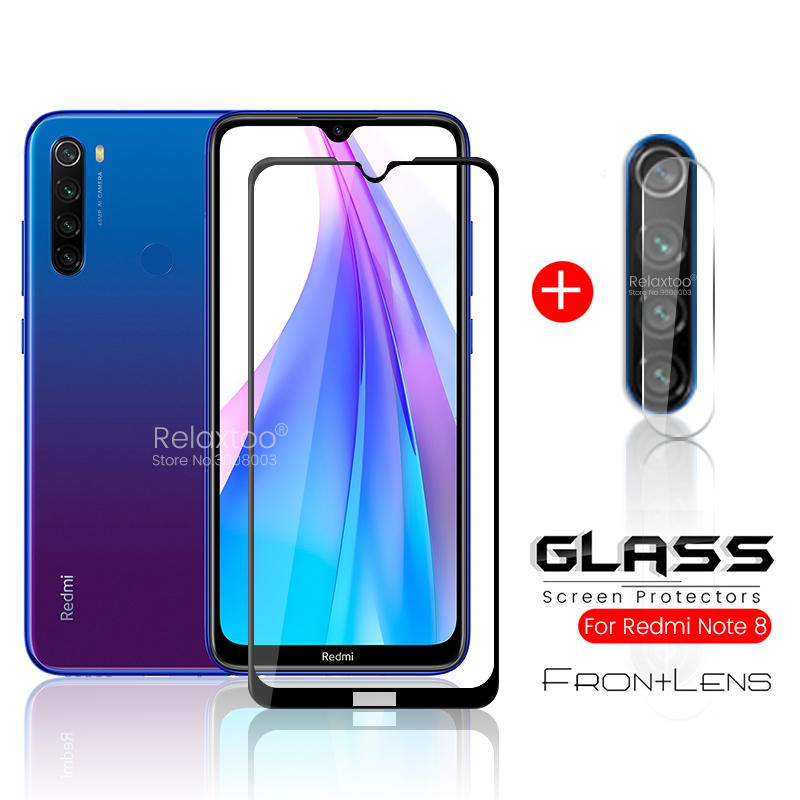 2-in-1 Safety Glass For Xiaomi Redmi Note 8 T 8t T8 Tremp Glasses Note8t Note8 T Camera Protector On Xiomi Redmi Note 8 Pro Film
