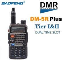 جديد BaoFeng DM 5R زائد DMR المذياع اللاسلكي الرقمي VHF UHF ثنائي النطاق المحمولة اتجاهين راديو TierI TierII مكرر DM5R جهاز الإرسال والاستقبال
