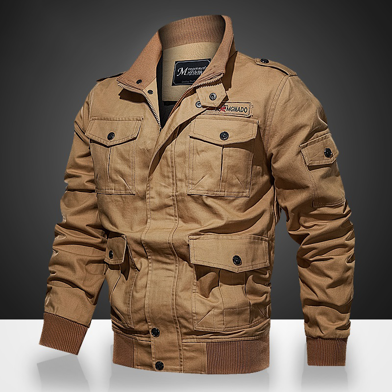 Spring Autumn Flight Pilot Jacket Men's Military Tactical Jacket Men Windbreaker Bomber Jackets Coat Army chaqueta <font><b>hombre</b></font> <font><b>6XL</b></font> image