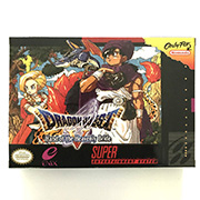 Dragon Quest V video game with box for snes game cartridge English translate image