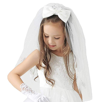 In Stock 2020 Girls First Communion Veils White/Ivory Wedding Flower Girl Veils Hair Accessories Free Shipping free shipping 5pcs fa5571n in stock