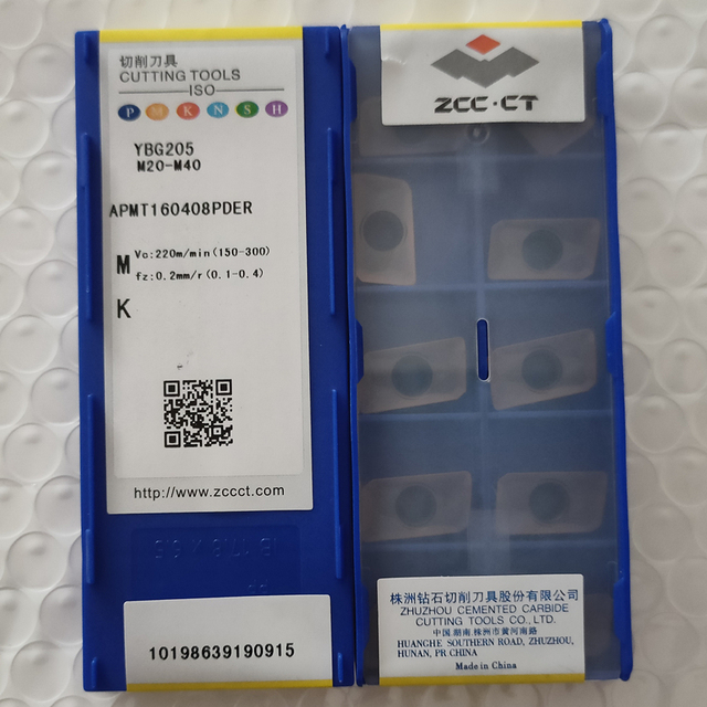 ZCC.CT 100Pcs APMT160408PDER YBG205 / 10Pcs SEKR1203AFN YBG202 / 10Pcs SEKR1203AZ YM YBG205 CNC קרביד מוסיף