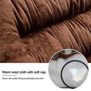Image 4 - Comfortable Car Seat Cushion With Backrest Thickened Plush Winter Seat Cushion Universal Car Accessories