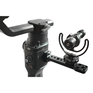 Image 3 - For DJI Ronin S Accessories Extended Board Bracket Alloy External Mount Plate Monitor Holder For DJI Ronin SC Handheld Gimbal