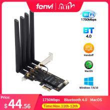 Dual band 1750Mbps 802.11ac Bcm4360 WiFi + Bluetooth BT 4.0 BCM94360CD PCIE Wireless Adapter MacOS Hackintosh Dekstop PC