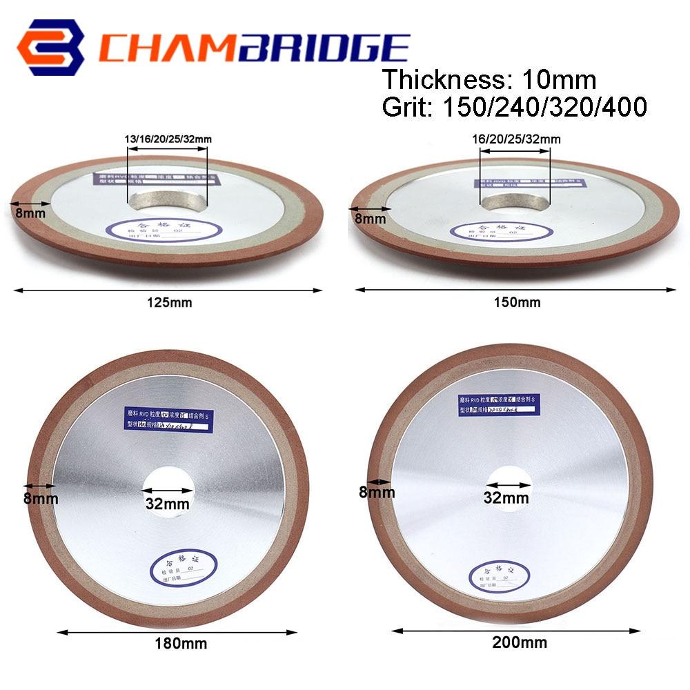 Diamond Grinding Wheel 125/150/180/200mm Cutting Disc Resin Bond Grinder For Tungsten Steel Milling Cutter Sharpener 150-400Grit