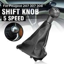 Velocidad de 5 pomo de cambio Manual polaina bota para Peugeot 206, 306, 307, 308, 3008 para Citroen Saxo C2 C4