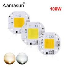 Высокая мощность 100 Вт 70 Вт 50 Вт COB светодиодный чип 220 В 110 В светодиодный COB Чип сварочный диод для прожектора умный IC не нужен драйвер