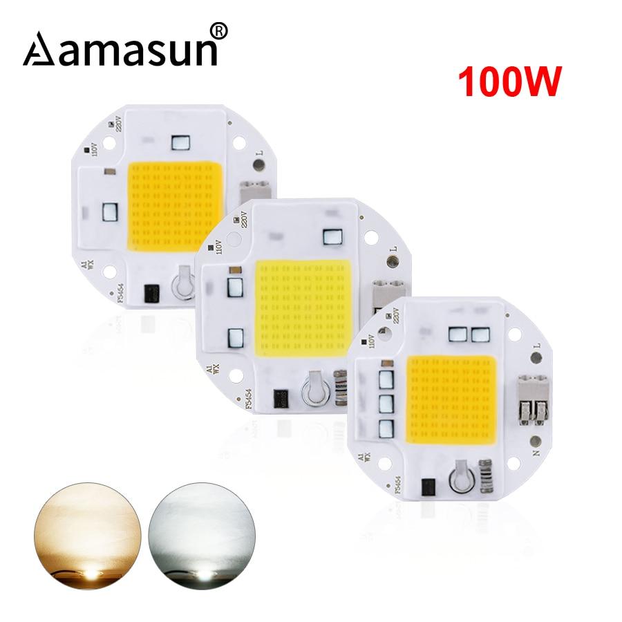 COB-чип светодиодный высокой мощности 100 Вт, 70 Вт, 50 Вт, 220 В, 110 В