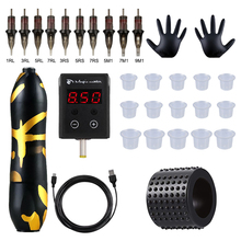 Cartridges-Needles Tattoo-Machine-Kit Tattoo-Power-Supply Rotary-Pen Permanent Makeup