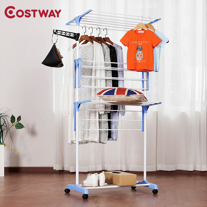 COSTWAY вешалка для одежды напольная вешалка для хранения одежды сушилка для одежды porte manteau kledingrek perchero de pie| |   | АлиЭкспресс