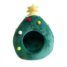 Pet Cat house dog bed Kennel Puppy Cave Warm Sleeping Bed Christmas tree shape Winter Warm Bed For Cats Dog Cage cama