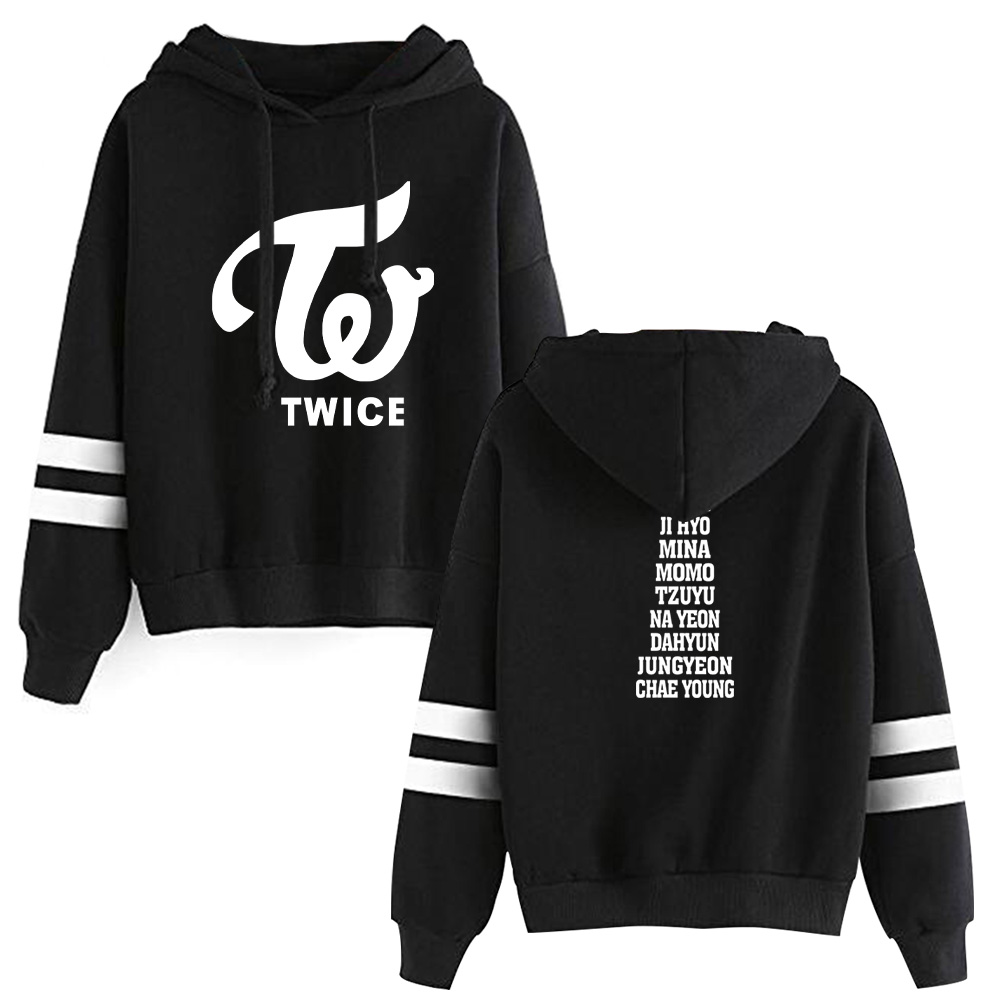 2019 KPOP TWICE Hooded Sweatshirts TWICE Kpop Hot Sale Hoodie Fans ONCE Women Long Sleeve Pullover Hoodies Casual Clothes