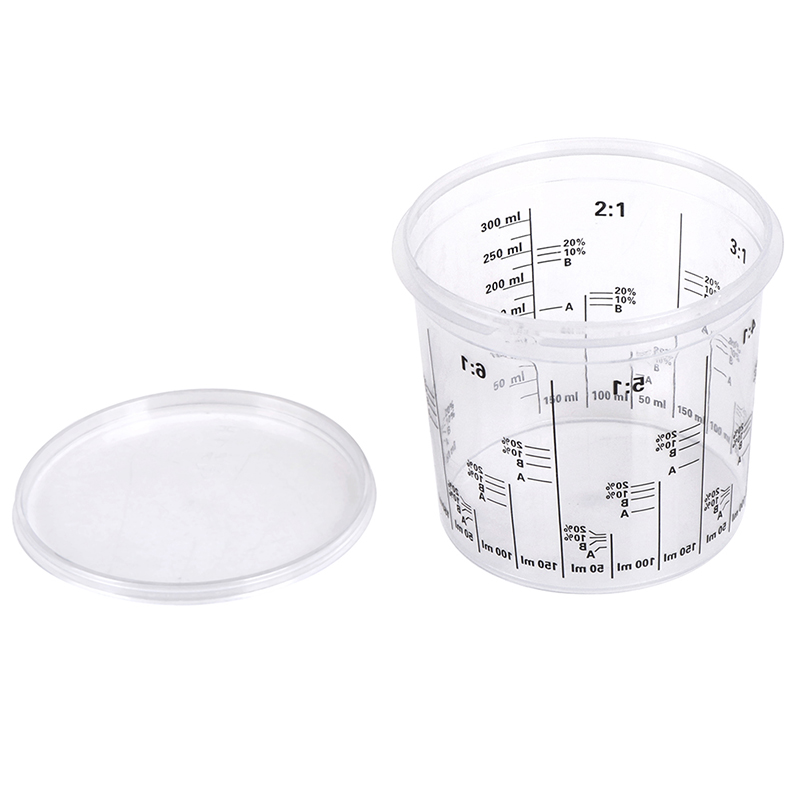 5pcs Plastic Paint Mixing Cups 385ml Paint Mixing Calibrated Cup For Accurate Mixing Of Paint And Liquids