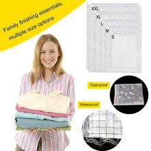 Resealable Travel Packing Bags Clothes Shoe Luggage Storage Seal Bag Waterproof