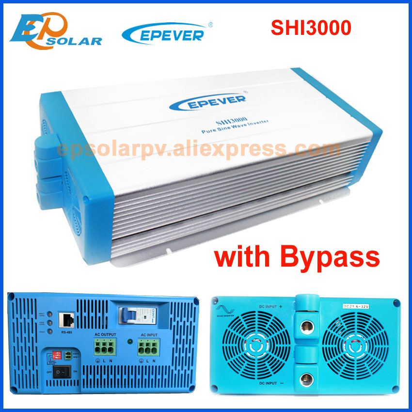 Image 5 - Free Shipping EPEVER Inverter,SHI3000 3000W invertor DC 24V/48V input to AC output 220V with EU/AU socket,pure sine waveInverters & Converters   -