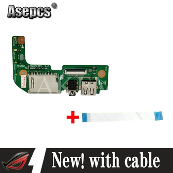 New Original with cable For Asus X555 X555L X555LD X555LD_IO USB AUDIO CARD READER BOARD REV:2.0 MB 100% Tested Fast Ship image