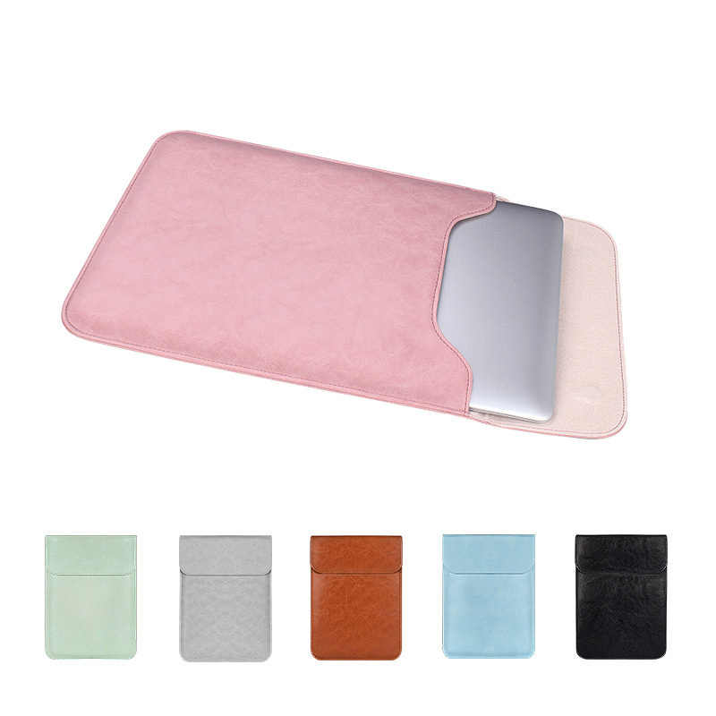Weiche PU Leder Laptop Sleeve Für Macbook Air Pro 12 13,3 14 15 zoll Laptop Tasche Notebook Tablet Fall Für xiami DELL Lenovo Abdeckung