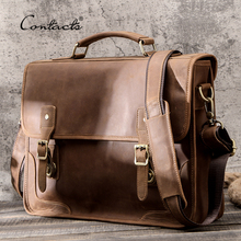 Laptop Bag Handbags Men Briefcase Crazy Brand Messenger Business Male Casual for CONTACT'S