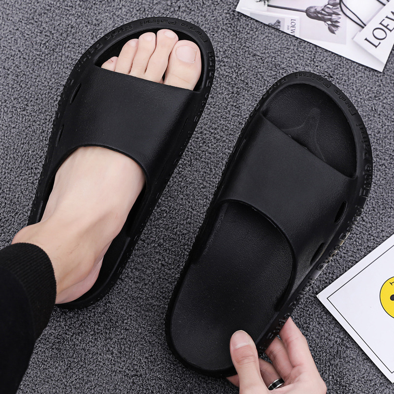 Men's Slippers EVA Men Shoes Casual Black Outdoor Fashion Beach Shoes Non-slip Indoor Bathroom Slippers Soft Sole Flip Flops Men