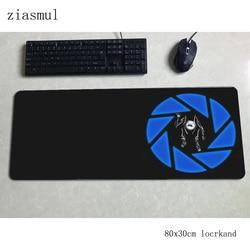Portal 2 padmouse 80x30cm podkładka pod mysz gamingową gra piękna duża podkładka pod mysz gamer komputer biurko Domineering mat notbook mousemat pc