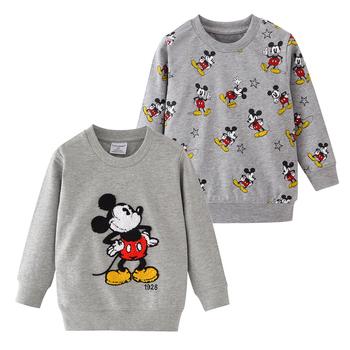 Dzieci Mickey wzór koszulki z krótkim rękawem dla dzieci Cartoon koszulka z długim rękawem topy dla chłopców odzież dla dzieci sweter koszulka dla chłopców odzież tanie i dobre opinie bibihou COTTON Na co dzień Tees Pasuje prawda na wymiar weź swój normalny rozmiar tshirt Chłopcy O-neck Pełna REGULAR