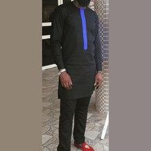 Дашики Лоскутная рубашка + брюки Мужской комплект сенатор одежда