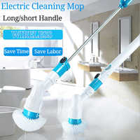 Electric Spin Scrubber Turbo Scrub Cleaning Brush Cordless Chargeable Bathroom Cleaner with Extension Handle Adaptive Brush Tub
