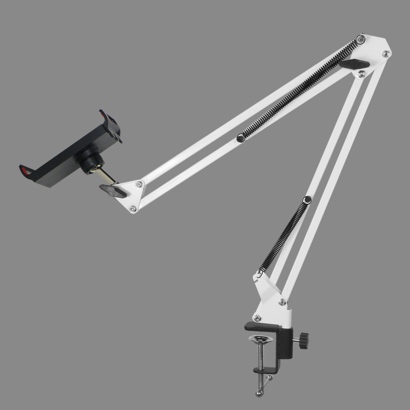 Metal Long Arm Tablet Holder Stand Mobile Phone Support For IPad Air Mini Bed/Desk Clip Bracket For 12 To 18cm/10cm Tablet Phone