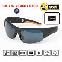 ET Bluetooth Della Macchina Fotografica Occhiali Da Sole Auricolare con Built-in 16GB 32GB di Memoria HD1080P Bluetooth Lettore MP3 Foto Video registratore di Sport
