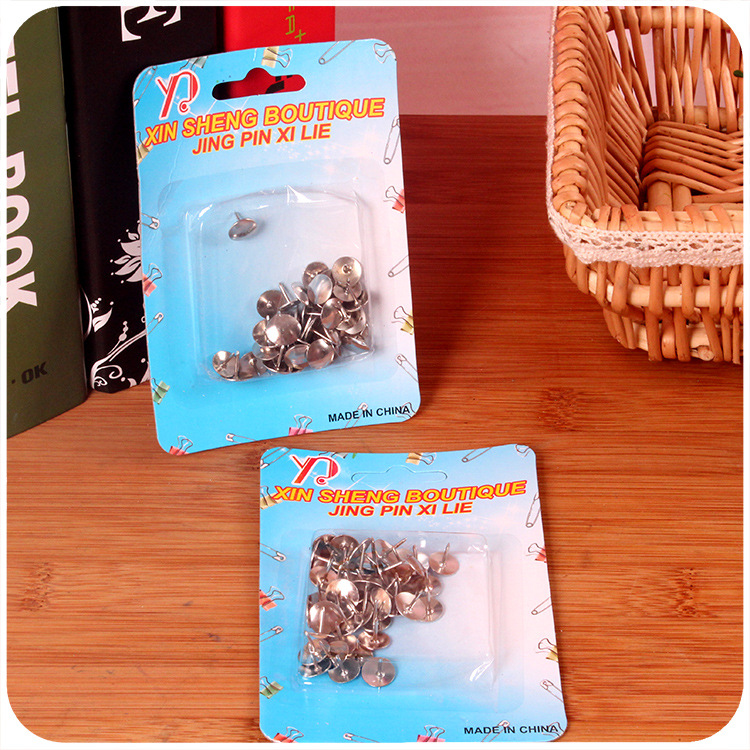 A167 Silver Pushpin Press Stud Stall Supply Of Goods Hot Selling 2 Yuan Shop Daily Use The Department Store Yiwu Small Commodity