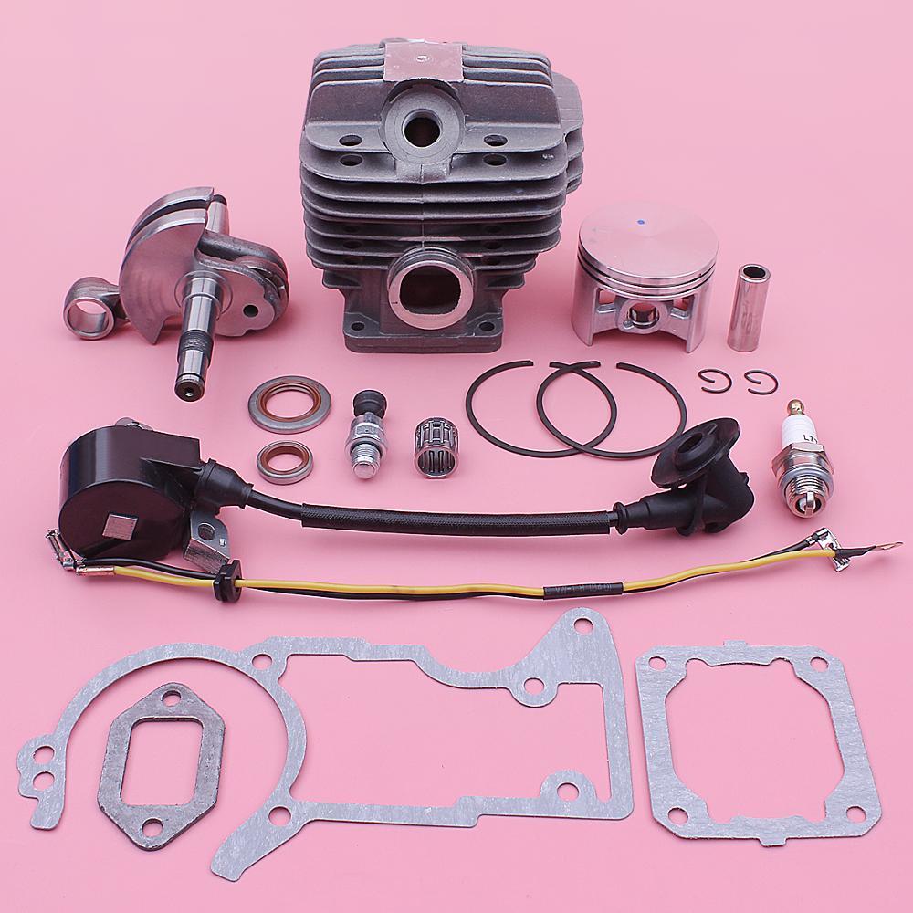 52mm Cylinder Ignition Coil Crankshaft Kit For Stihl 044 MS440 Chainsaws 1128 020 1227, 1128 029 2301 W Piston Oil Seal Set