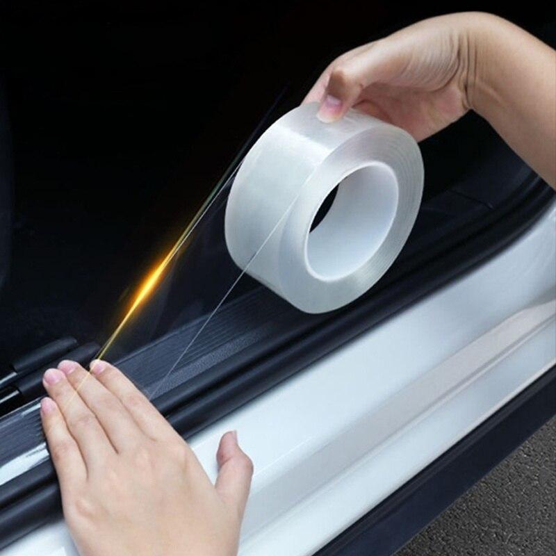 3 メートルの車のステッカー自動車インテリア保護フィルムドアエッジ保護接着剤自動車トランクドア敷居車体ビニールアクセサリー