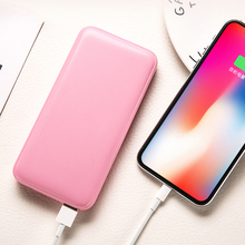 SOODOO New Portable Ultra-thin Polymer 10000mAh Power Bank Poverbank Dual USB Ports External Battery Charger for Xiaomi Iphone