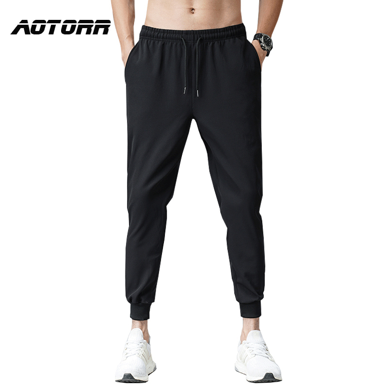 Männer Frühling Dünne Beiläufige Hosen Hose Dünne Jogger Trainingsanzug Hosen Männlichen Mode Hip Hop Streetwear Elastische Taille Pluderhosen