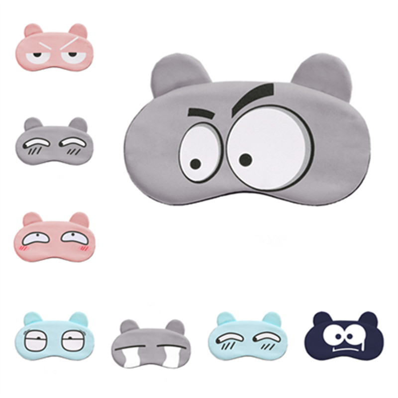 Cotton Cartoon Face Sleep Eye Mask Cute Funny Lovely Eye Cover Sleeping Mask Travel Rest Eye Band Kids Eye Shade Patch Blindfold