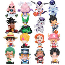 12 Centimetri di Dragon Ball Figura Combattente Z Majin Bu Freezer Super Son Goku Cellulare Figura Rufy Ace Chopper di One Piece figure Regali di Natale(China)