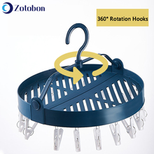 Hangers Baby Clothes Sock Underwear Drying-Organizer Multi-Clip-Hooks Folding Household